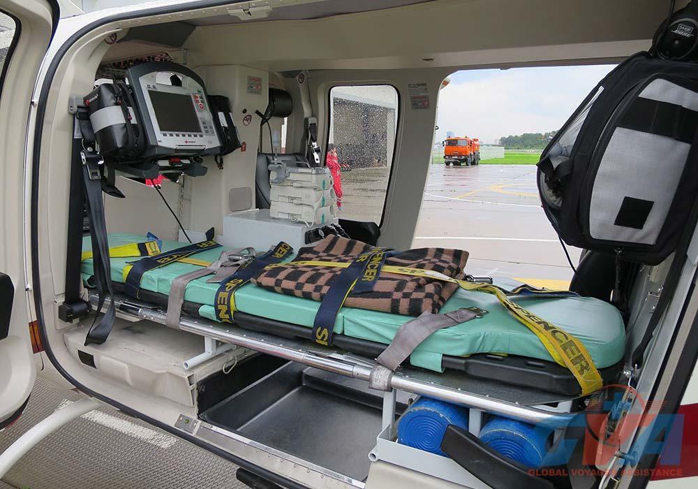 Для медицинской эвакуации в распоряжении GVA есть вертолеты санитарной авиации