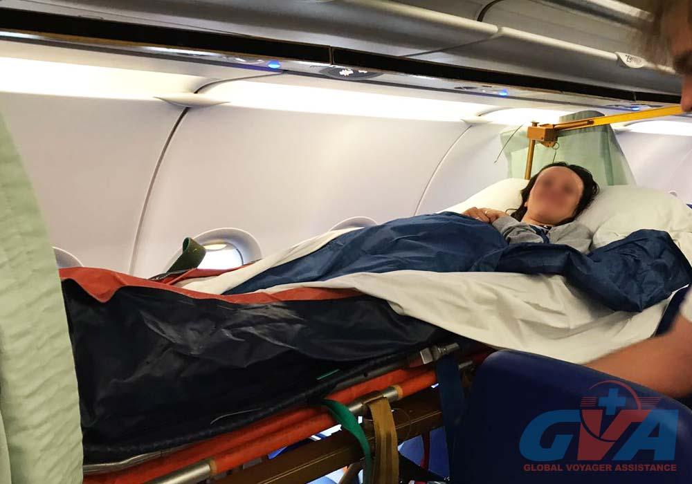 GVA specailists organized the repatriaton by regular flight