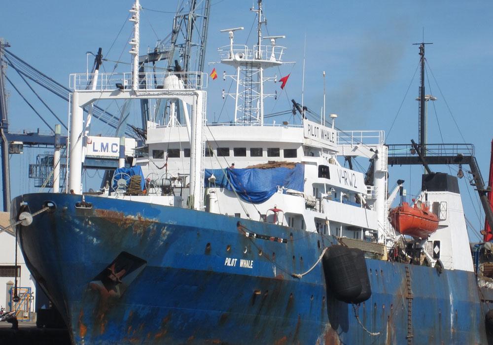 The seamen suffeered a stroke on fishing vessel Pilot Whale
