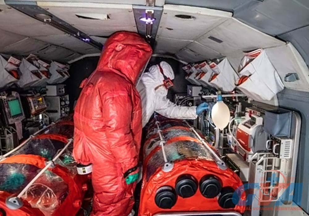 GVA организует транспортировку больных коронавирусом санитарной авиацией в изоляционных капсулах