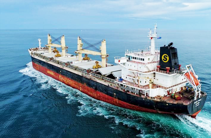 Medical evacuation from bulk carrier