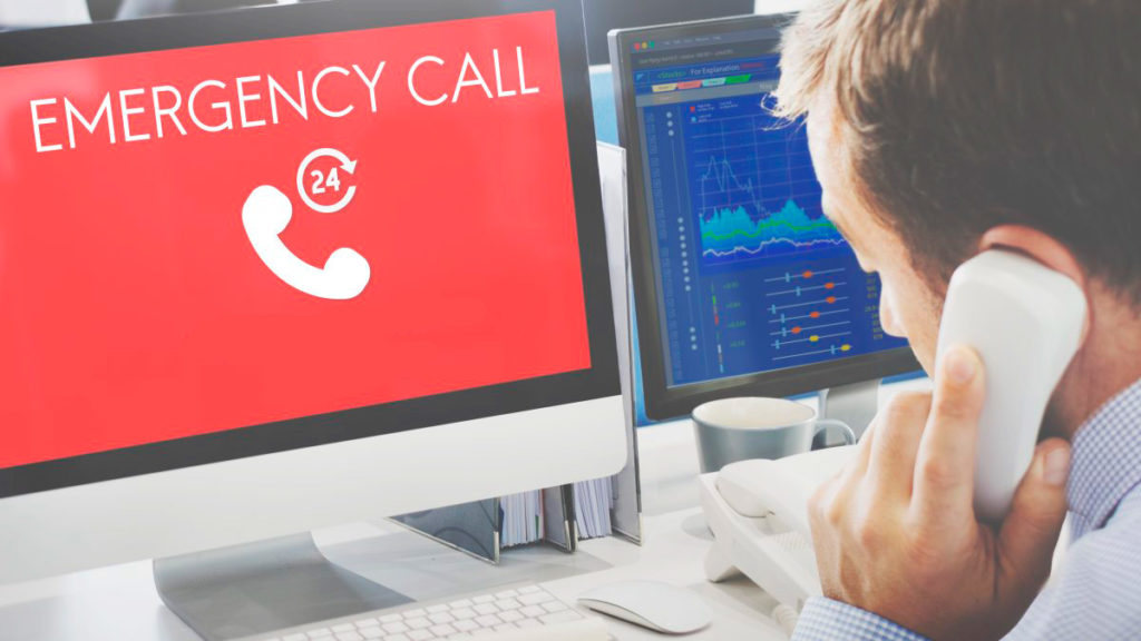 Emergency call in case of COVID-19